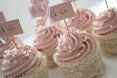 Cupcakes de estilo romántico