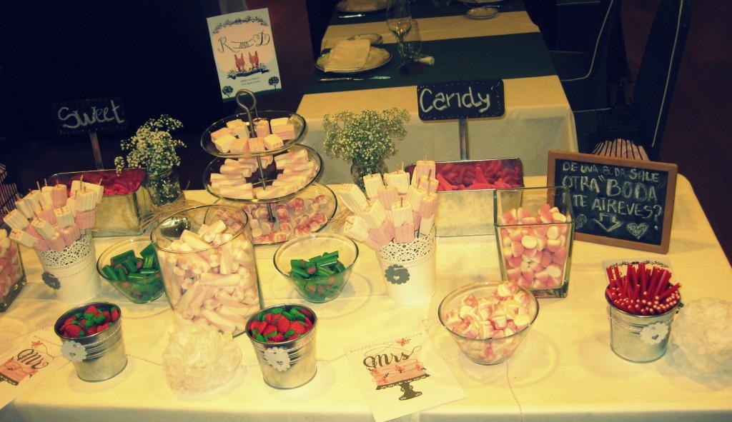 buffet dulce de chuches para bodas