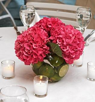 Chicweddings organizaci n integral de bodas centros de - Decoracion con hortensias ...