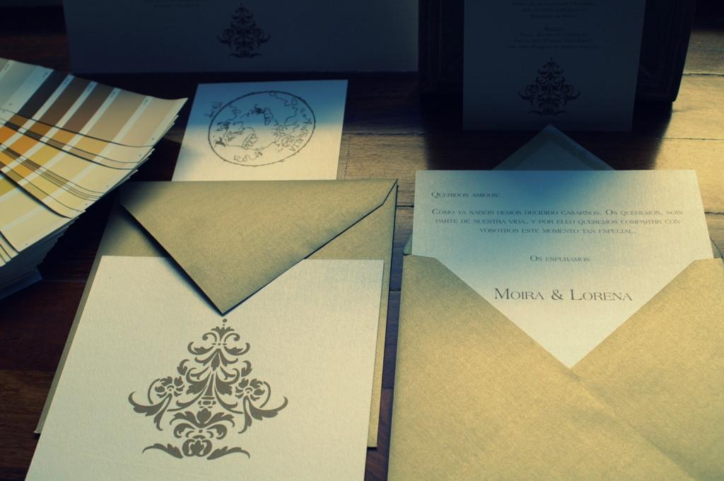 invitaciones modernas de boda