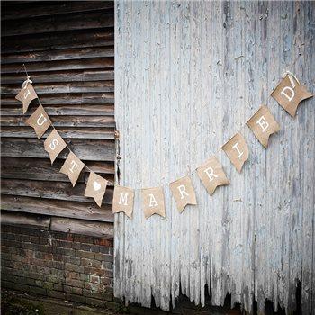 banderines-rusticos-just-married