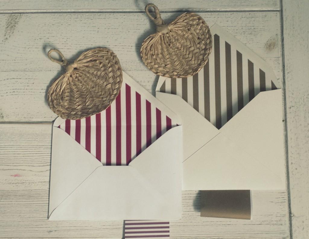 Invitaciones de boda y sobres forrados a medida