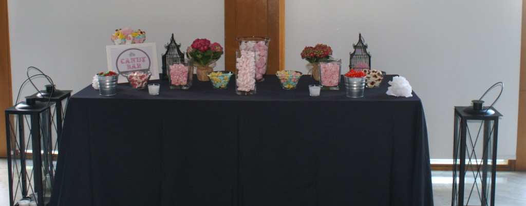 Buffet candy bar sencillo